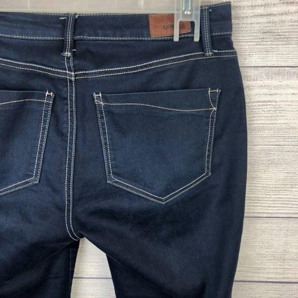 Express Jeans Skinny Stretch Dark Wash Size 10